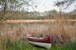 Kanu am See vor der Tür